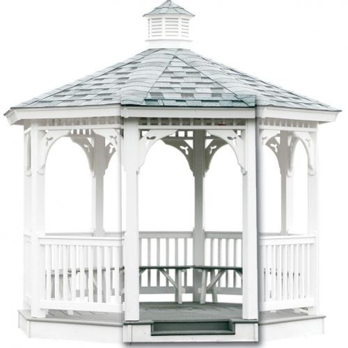 Built-in Vinyl Gazebo Step