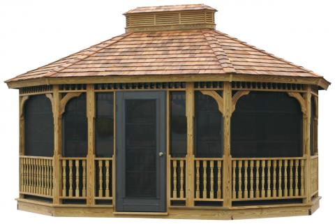 Single Roof Gazebo with Easy Breeze Sliding Panels