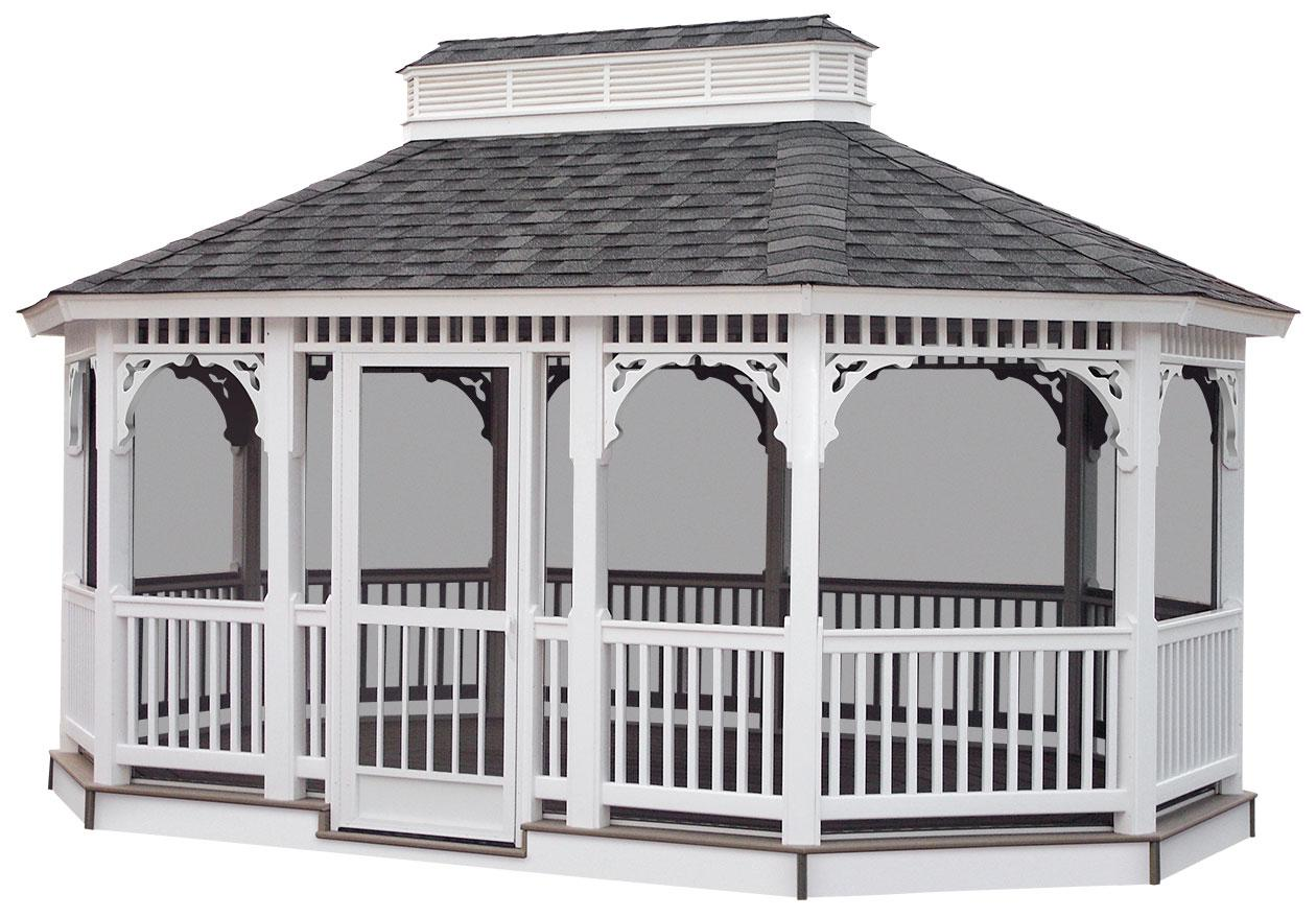 100 This Screened Gazebo And Composite Screened In