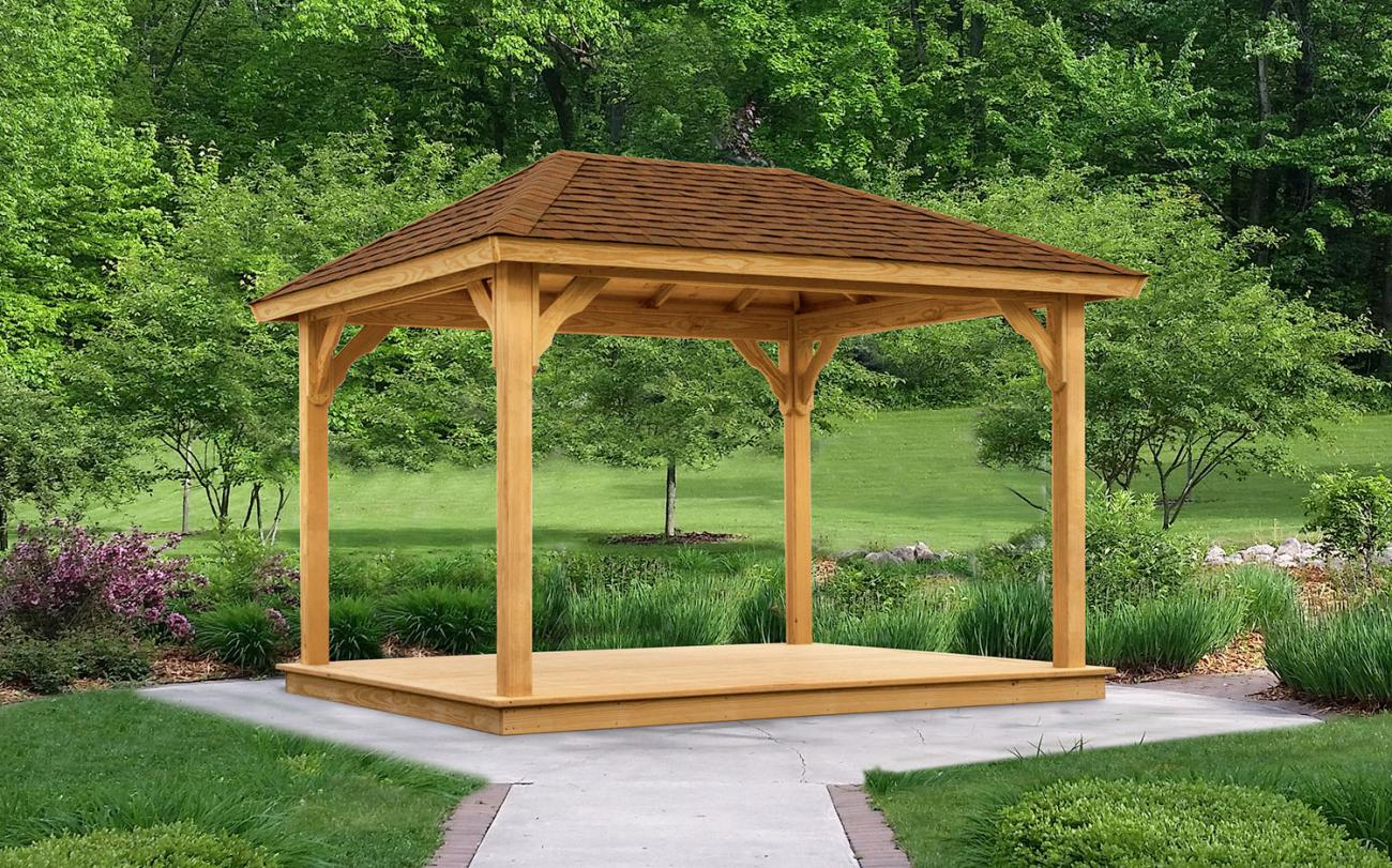 Backyard Firepit Ideas Wood Pavilions Lykens Valley Gazebos And Outdoor Living