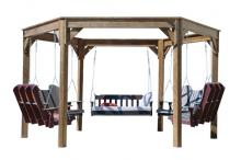 wood swing gola shown without top cross pieces